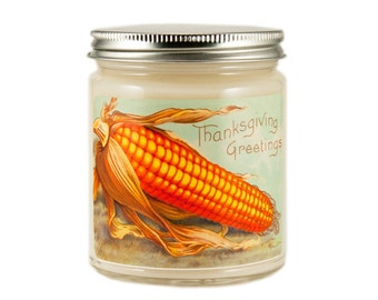 Thanksgiving Candle, Custom Scented Candle, Vintage Candle, Container Candle, Soy Candle, Vintage Thanksgiving Candle, Holiday Candle,