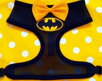 Batman superhero dog harness