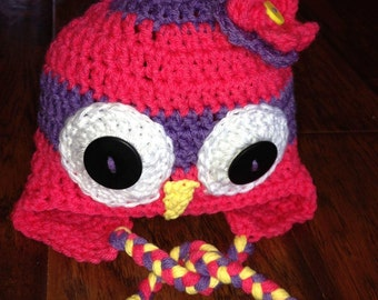 Striped Baby Owl Hat