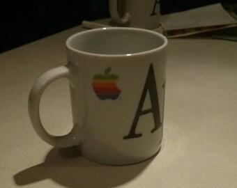 Retro Apple Coffee Cup-Rainbow Logo