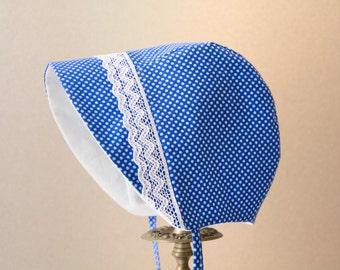 Handmade baby hat, baby bonnet, baby gift, baby sunbonnet, newborn hat, newborn gift, lace baby gift