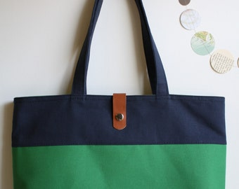 urban tote - midnight blue and periwinkle