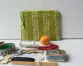 Notions Pouch Zippered Sewing Knitting Crocheting Make-up Small
