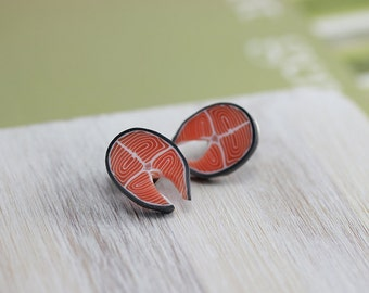 Salmon Steak - Tie Tack Pin