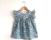 RESERVED for lpmiller80: size 12-18 months only - girls floral cotton lawn dress