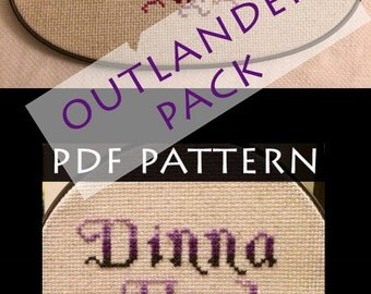 Outlander Two Pack Cross Stitch Pattern PDFs