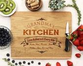 Personalized Cutting board, Custom Cutting Board,  Grandma's Kitchen Cutting Board, Custom Engraved White Oak --21031-CUTB-004