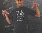 friday the 13th t-shirt . what would jason do . jason voorhees . mens tshirt . horror screenprint . men's shirt