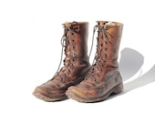 Size 7 Brown Leather Ankle Boots