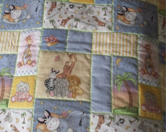 Baby Quilt All My BaZoople Friends Crib/Toddler Quilt 41W x 50L