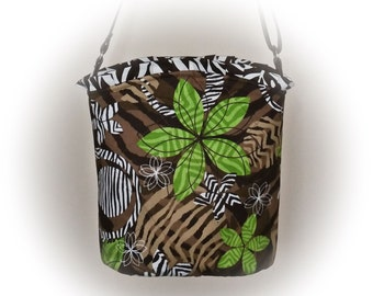 J Castle Mini Messenger Crossbody Animal Print Designer Fabric - (FREE Shipping USA Canada - Ready to Ship)