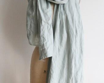 Linen scarf print poetry e.e. cummings