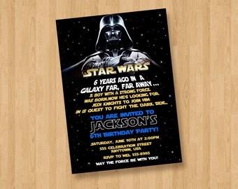 Star Wars Darth Vader Birthday Party Personalized Invitation Digital File
