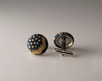 Blue and gold cufflinks, Gift for dad, Cuff links, Valentines day gift dad, Cufflinks, Dad gift, Husband gift, Boyfriend gift, Groom gift