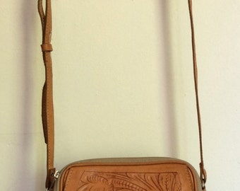 Handmade Tooled Leather Purse