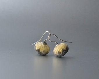 earrings chevron grey yellow