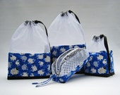 Counting Sheep Royal Blue At-A-Glance Knitting/Crochet/Spinning Project Bags Small & Zippered Accessory
