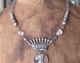 Royal Crown and Liberty Necklace