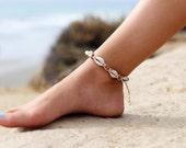 Ankle Bracelet, Hemp  Anklet, Cowrie Shell Anklet, Boho Anklet, Macrame Anklet, Beach Anklets