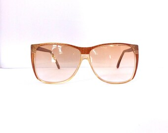 Optical Plus Sunglasses //Women's Vintage 1980's/1990's// Rust Orange Gold Clear Translucent Frames//New CR39 Lenses// #M98 DIVINE