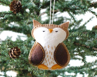 PDF patroon - bos uil, Winter voelde Ornament patroon, kerstbal, Softie patroon
