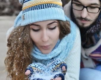 Merino wool fingerless, merino wool gloves, colorful arm warmers, exciting tennagers fingerless, Christmas gift