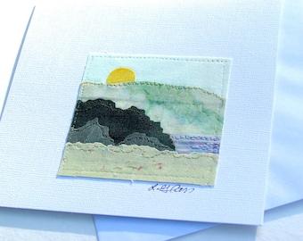 Note Card-Fabric Landscape Original