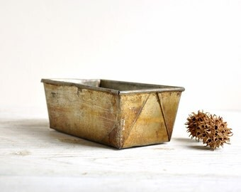 Metal Bin, Vintage Storage Bin / Small Parts Storage Organizer / Industrial Box / Industrial Storage