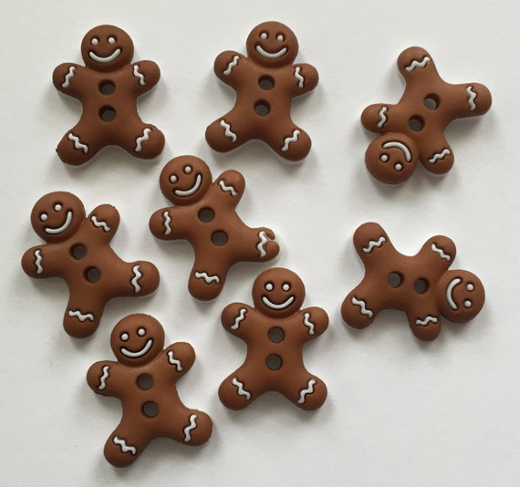 """Gingerbread Man, Cookie Buttons, Packaged Novelty Buttons, """"Sew Cute Iced Cookies"""" by Dress It Up Jesse James, Sewing, Crafting Buttons"""