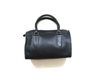 Vintage Coach Bag / Coach Madison Bag / Coach Doctor Bag / Black Leather Coach Purse / NYC Coach