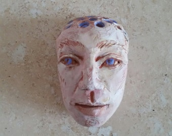 Ceramic Mask wall hanging sculpture