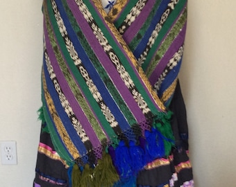 Frida Kahlo Vintage Halloween Costume Ensemble with Jewelry  - Adult Women's Large