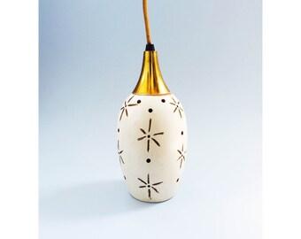 Mid Century Sunburst Pendant Lamp / Hanging Lamp