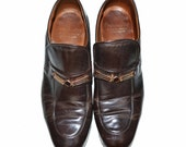Vintage Bootmaster 1970's Brown Leather Mens Loafers 9.5 Shoes Penny Loafers