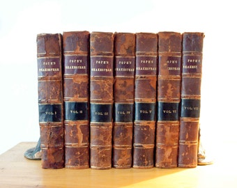 Pope's The Works of Shakespear (Shakespeare) In Seven Volumes 1723 - 1725