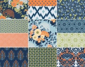 HALF YARD Bundle (Fountain palette)  - BOTANIQUE - Joel Dewberry  - Free Spirit Fabric - 12 pieces