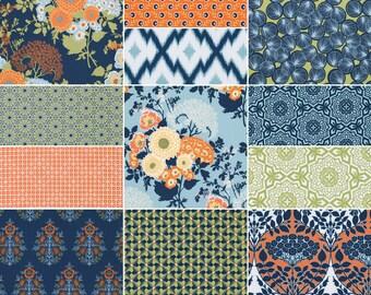 FAT QUARTER Bundle (Fountain palette)  - BOTANIQUE - Joel Dewberry  - Free Spirit Fabric - 12 fat quarters