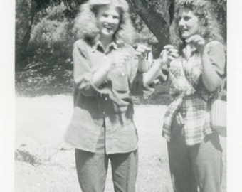 "Vintage Photo ""Monster Fingers"" Weird Snapshot Photo Old Antique Photo Black & White Photograph Found Photo Paper Ephemera Vernacular - 132"