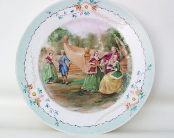 Antique Cabinet Plate | Sevres French Porcelain | Decorative Plate | Hand Painted Plate