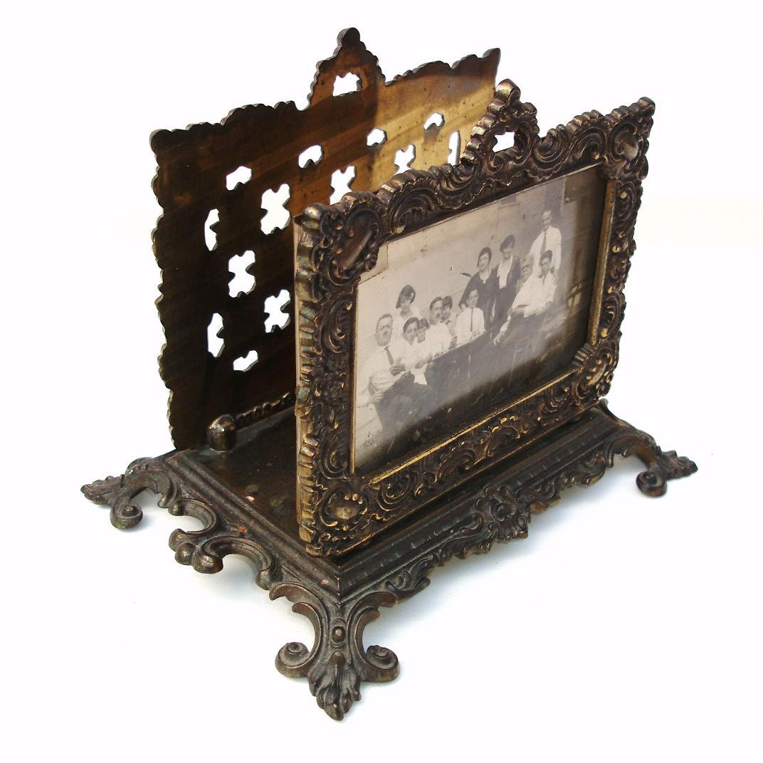 metal letter holder vintage ornate metal letter holder photo frame iron 16618