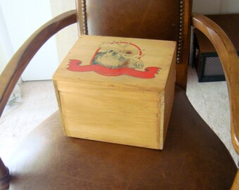 Moose of Course - Wooden Storage Box with Moose Pictured and Brass Findings