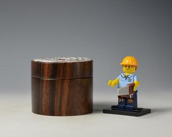 Macassar Ebony wooden box, woodturning, gift,