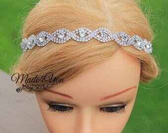 Bridal Rhinestone Crown - Rhinestone Headband - Jeweled Bridal Halo