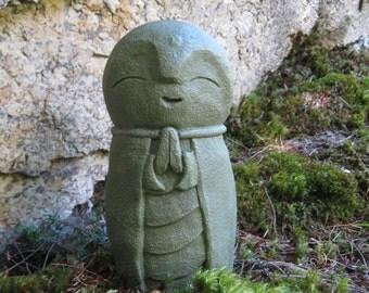 Jizo Statue, Buddhist Protector of Children, Buddha, Concrete Statues, Concrete FIgure, Cement Garden Decor