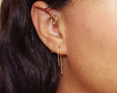 14K Gold Minimal Earrings