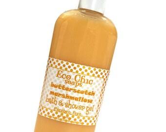 Butterscotch Marshmallow Body Wash - Bath & Shower Gel - Liquid Soap - Paraben Free