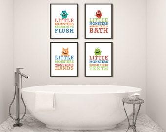 kids bathroom wall decor printable bath decor boy bathroom wash your hands