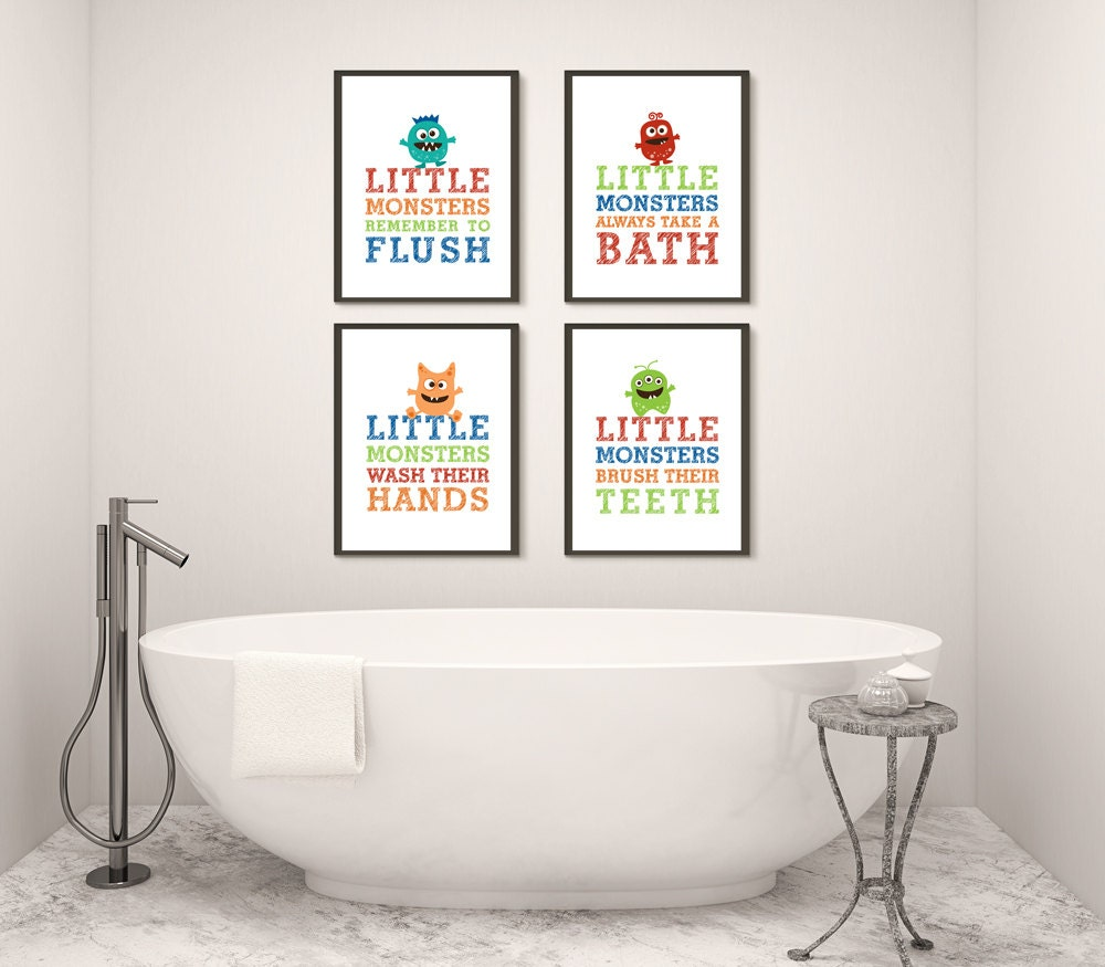 Kids bathroom wall decor printable bath decor boy bathroom for Bathroom decor printables