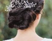 Bridal Hair Vine, Bridal Hair Comb, Bridal Hair Pins, Pearl Hair Vine, Beaded Hair Vine, Boho Hair Piece, Wedding Hair Vine, Olivia Nelson