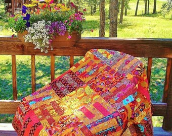 FALL FRENZY --    Kaffe Fassett Inspired quilt in Autumn colors